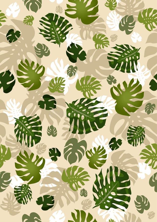 Philodendron verlässt nahtlos stock abbildung