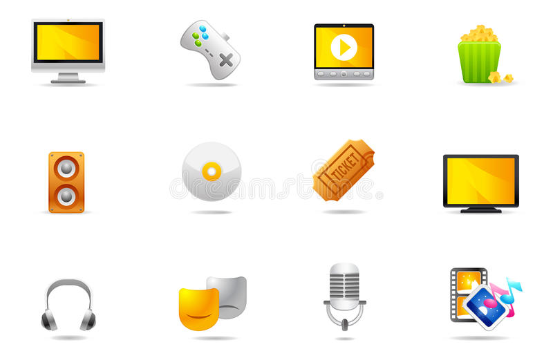 Philos icons - set 11 | Entertainment stock illustration