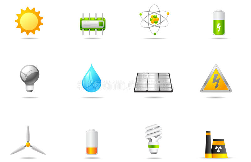 Philos icons - set 14 | Power & Energy royalty free illustration