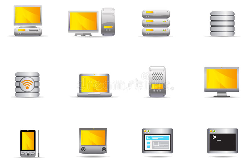 Philos icons - set 16 | Computer & Server royalty free illustration