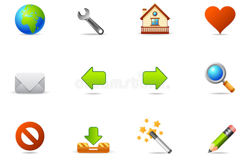 Philos icons - set 2 | Internet and Blogging royalty free illustration