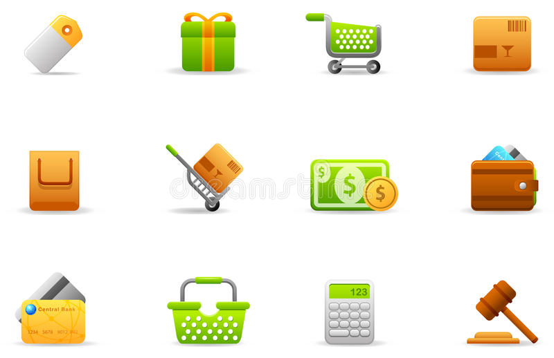 Philos icons - set 4 | Store and eCommerce royalty free illustration