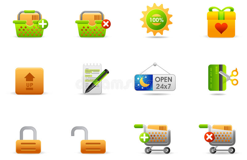 Philos icons - set 6 | Store and eCommerce #2 vector illustration
