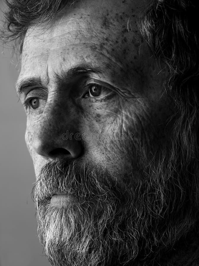 Philosopher - pensive man with beard portrait