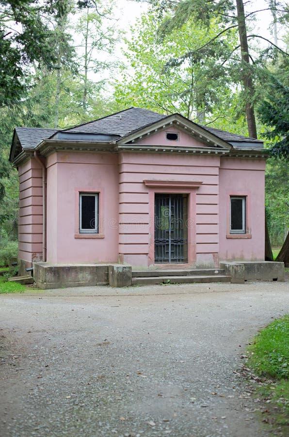 Philosophers house. In park Schoenbusch near Aschaffenburg stock image