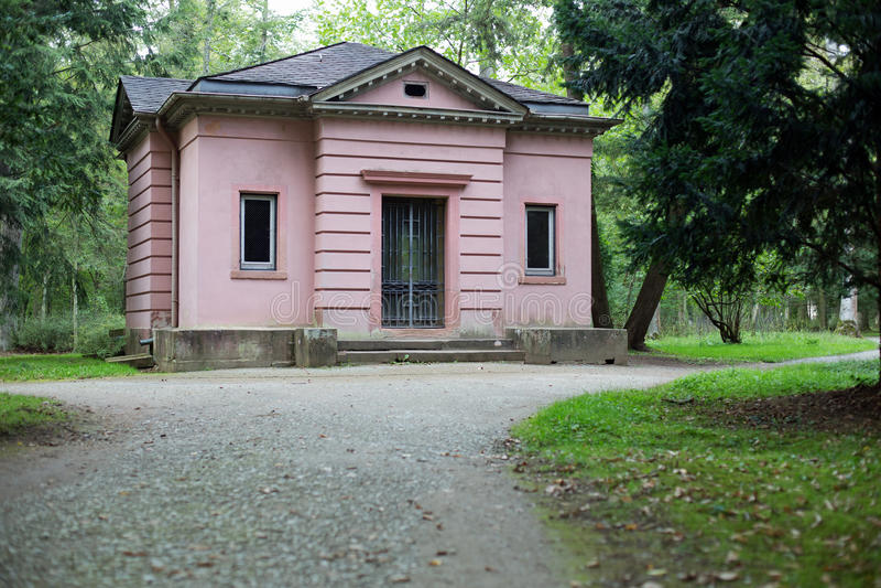 Philosophers house. In park Schoenbusch near Aschaffenburg stock photography