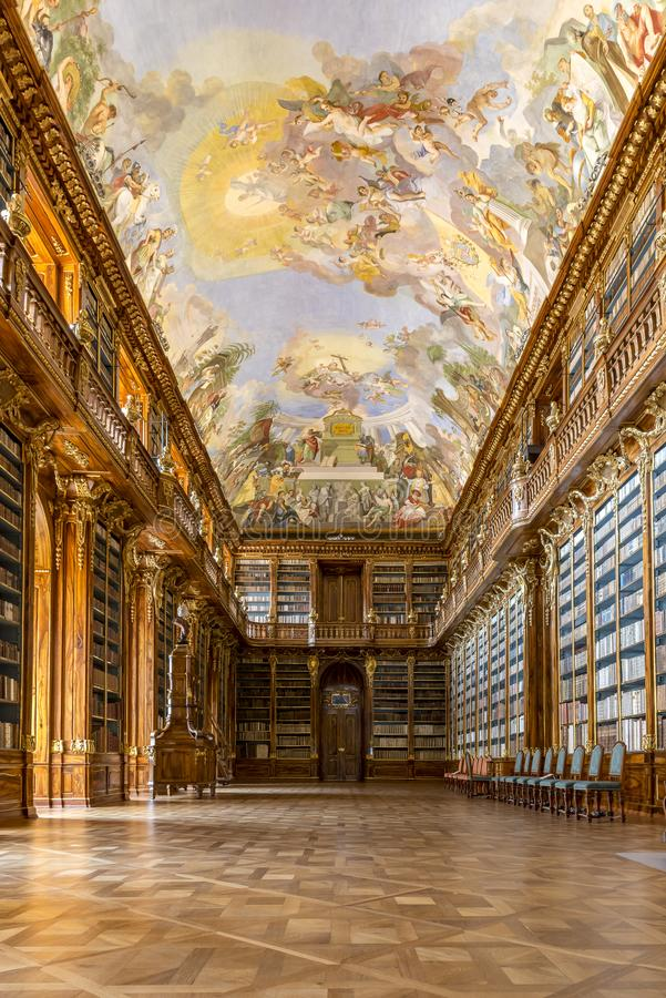 Philosophical Hall Strahov Library Prague stock photo