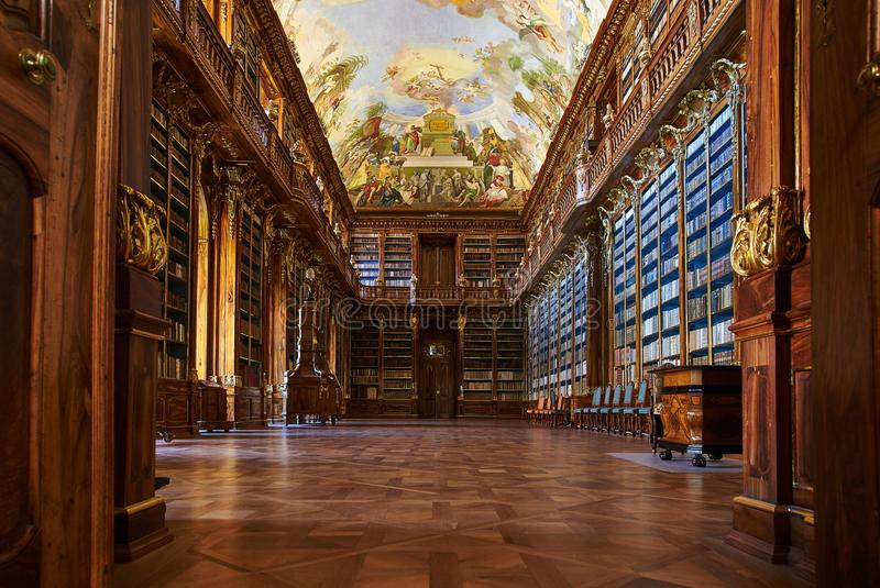 Philosophical Hall, Strahov Monastery, Prague stock photo