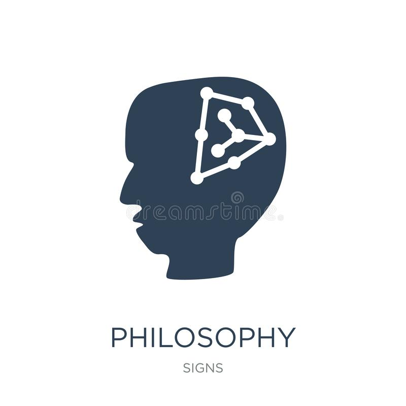 Philosophieikone in der modischen Entwurfsart Philosophieikone lokalisiert auf weißem Hintergrund Philosophievektorikone einfach  stock abbildung