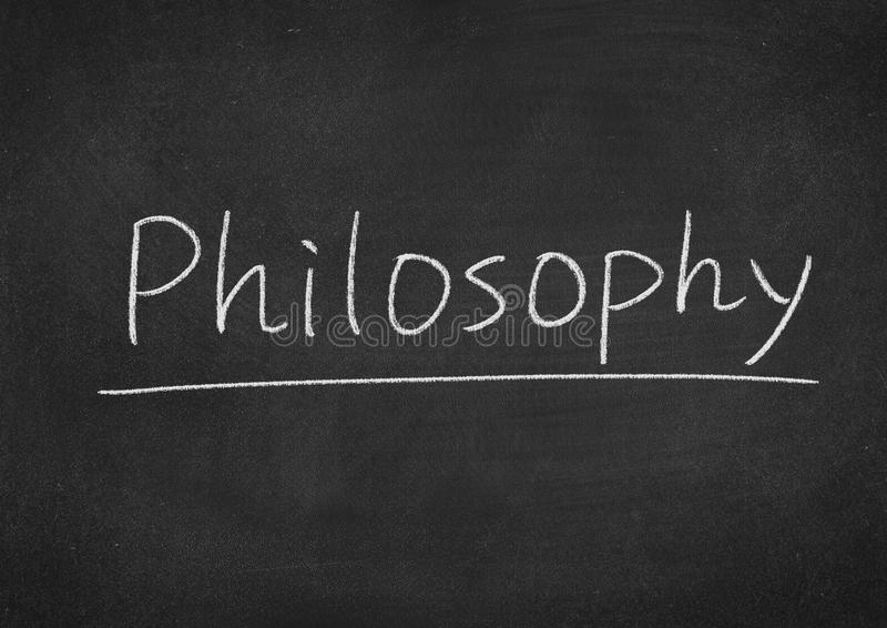 Philosophy. Concept word on a blackboard background royalty free stock images