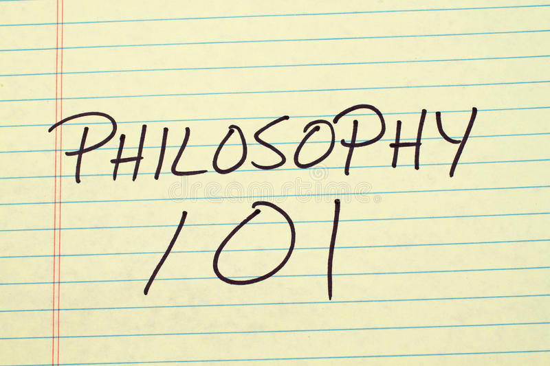 Philosophy 101 On A Yellow Legal Pad. The words `Philosophy 101` on a yellow legal pad stock image
