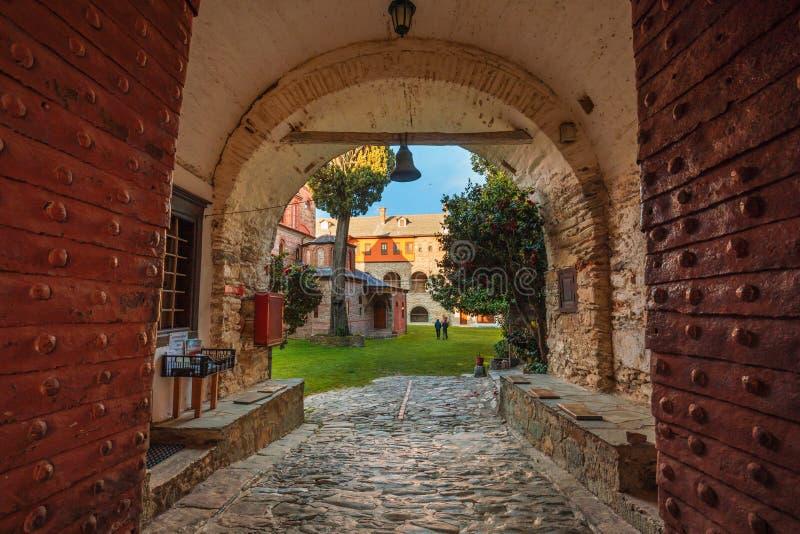 Philotheou-Kloster auf dem Mount Athos stockfoto