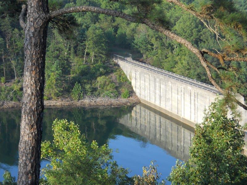 Philpott tama blisko Martinsville, Virginia zdjęcie stock