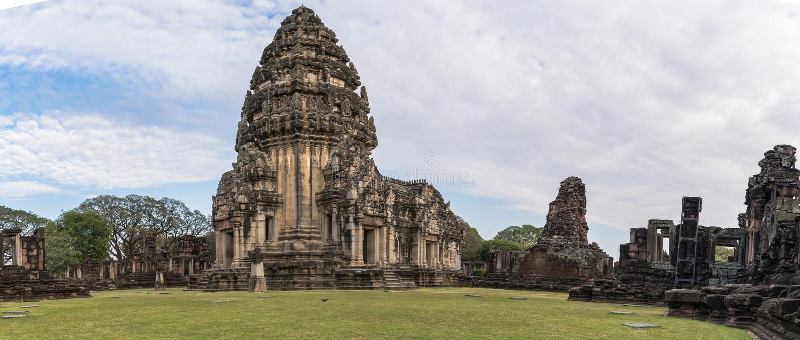 Phimai历史公园, nakornratchasima,泰国 库存图片