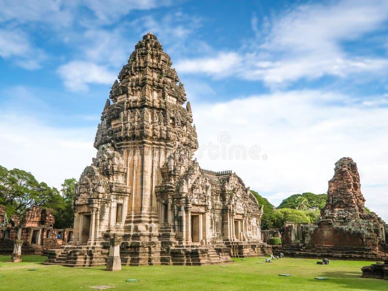 Phimai historisch park, Prasat Hin Pimai in Nakhon-ratchasima, Thailand stock afbeelding