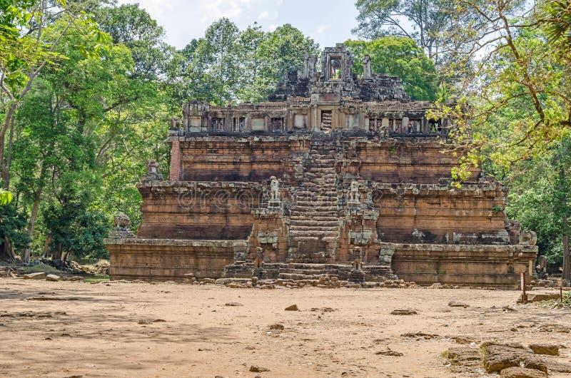 Phimeanakas en hinduisk tempel inom den walled bilagan av Royal Palace av Angkor Thom arkivfoto
