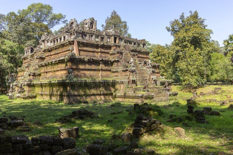Phimeanakas tempel i Angkor Thom, den sista och mest bestående huvudstaden av en khmervälden cambodia skördar siem royaltyfria foton