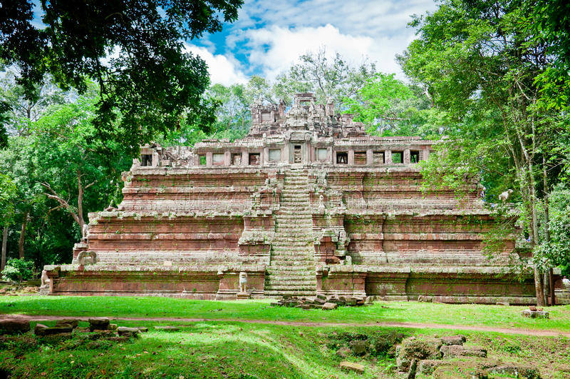 Phimeanakas Temple of Angkor royalty free stock photo