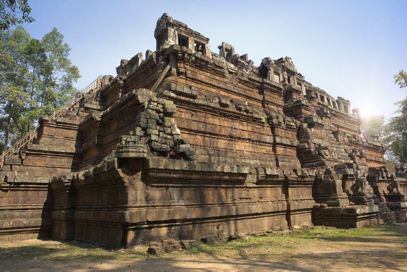 Phimeanekas Vimeanakas przy Angkor lub świątynia jesteśmy Hinduskim świątynią w Khleang stylu, budującym przy końcówką 10th wiek, zdjęcie royalty free
