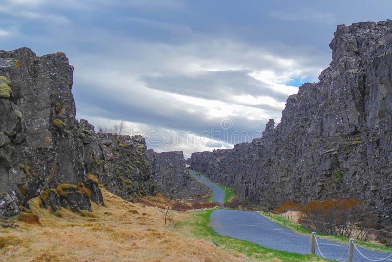 Phingvellir/Thingvellir, Iceland national tressure royalty free stock photo