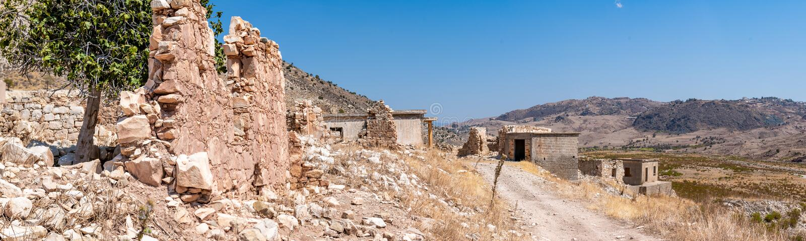 Phinikas is a Deserted Island in Paphos District, Cyprus. Phinikas is a deserted village in paphos district. It was evacuated after the Turkish invasion of stock photo