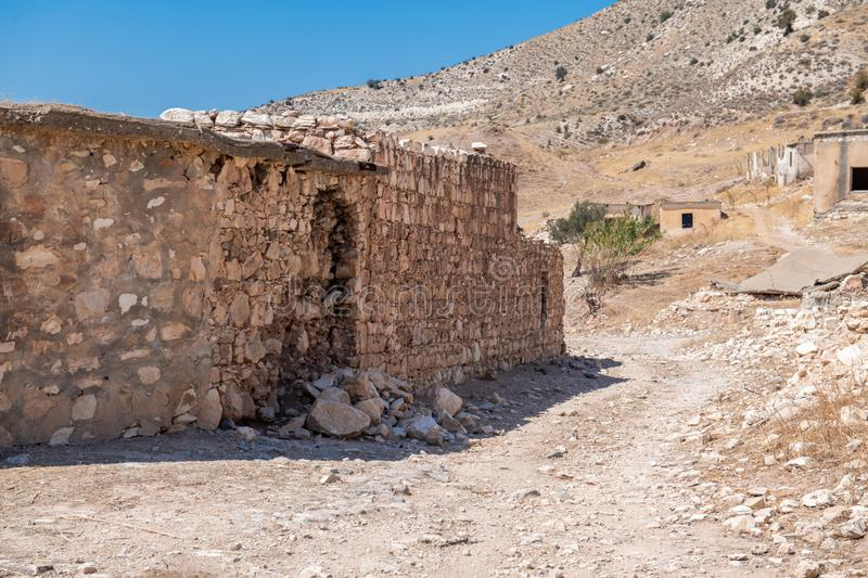 Phinikas is a Deserted Island in Paphos District, Cyprus. Phinikas is a deserted village in paphos district. It was evacuated after the Turkish invasion of royalty free stock image