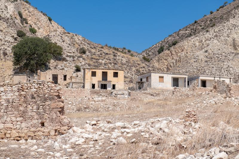 Phinikas is a Deserted Island in Paphos District, Cyprus. Phinikas is a deserted village in paphos district. It was evacuated after the Turkish invasion of royalty free stock images