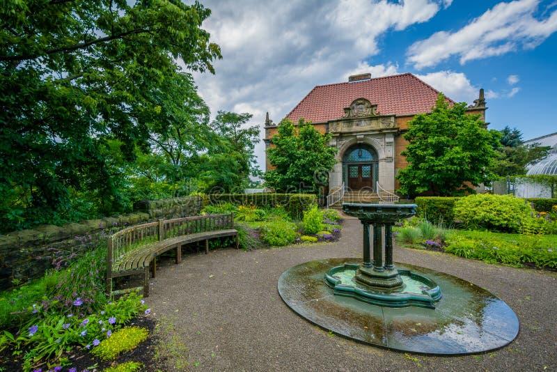 Phipps Hall botanika, w Pittsburgh, Pennsylwania fotografia stock