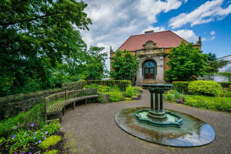 Phipps Hall botanika, w Pittsburgh, Pennsylwania zdjęcia royalty free