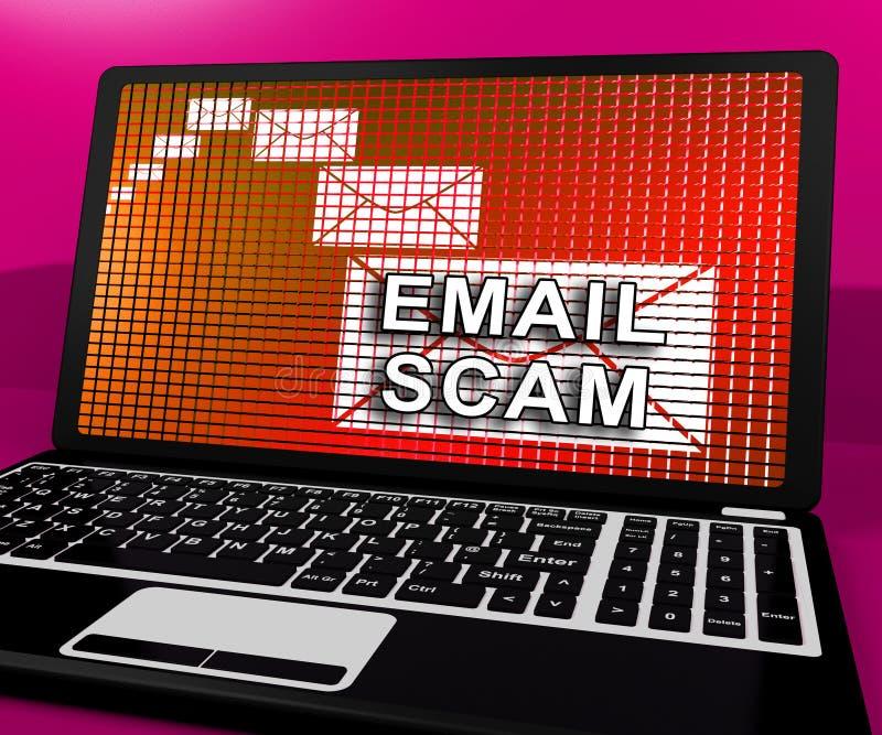 Phishing诈欺电子邮件身分戒备3d翻译 皇族释放例证