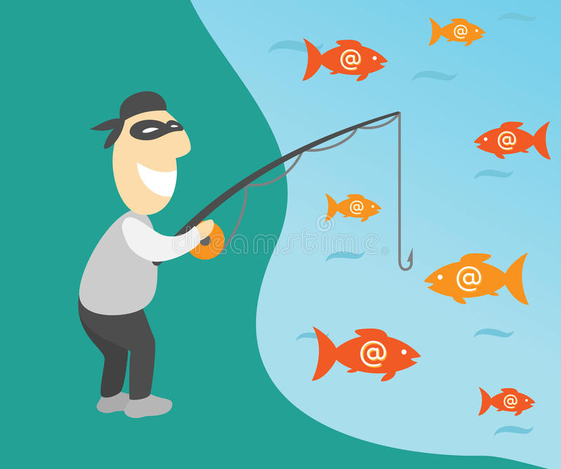 Phishing бесплатная иллюстрация