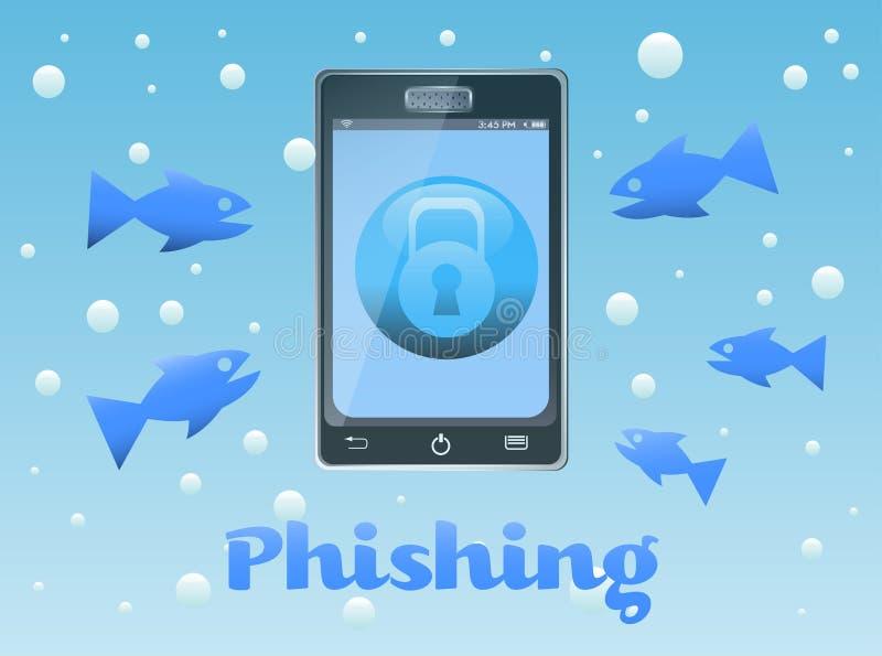 Phishing illustration stock