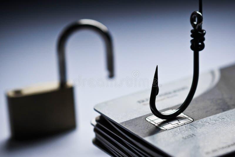 Phishing Angriff der Kreditkarte lizenzfreies stockbild