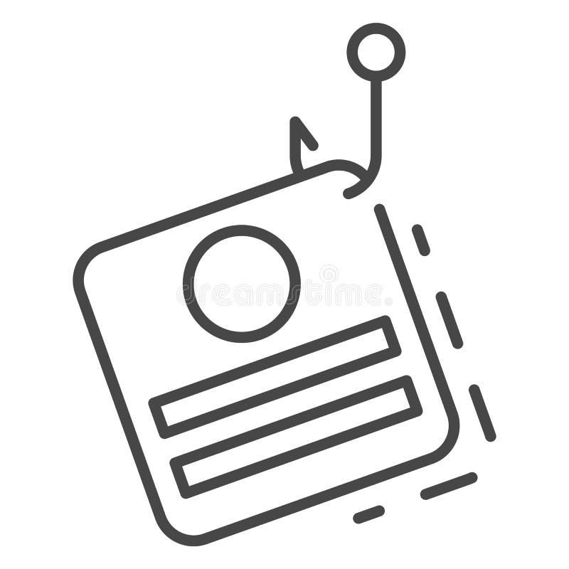 Phishing dane osobista ikona, konturu styl ilustracja wektor