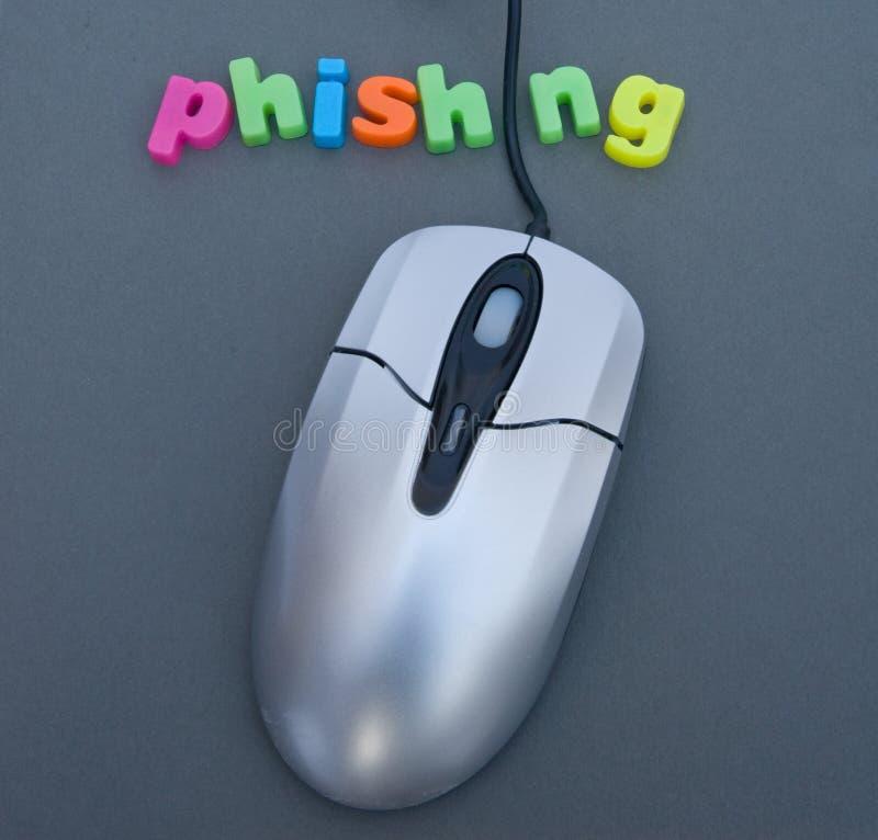 Phishing; het stelen van uw identiteit. royalty-vrije stock foto's