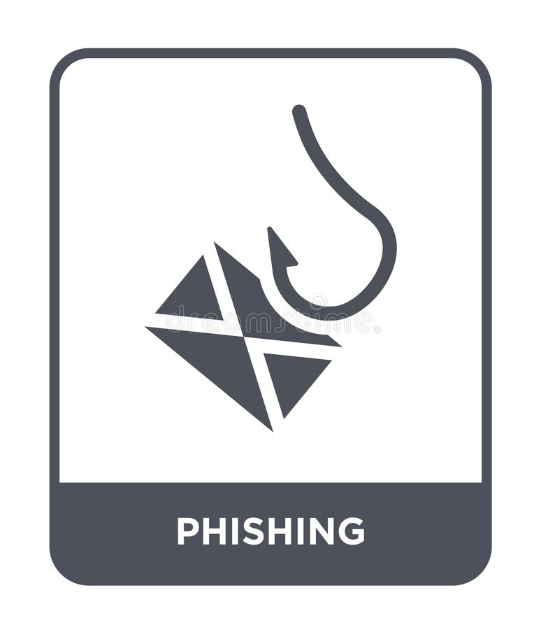 phishing icon in trendy design style. phishing icon isolated on white background. phishing vector icon simple and modern flat stock illustration
