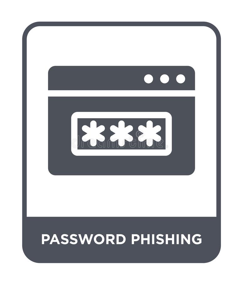 phishing Ikone des Passwortes in der modischen Entwurfsart phishing Ikone des Passwortes lokalisiert auf weißem Hintergrund phish lizenzfreie abbildung