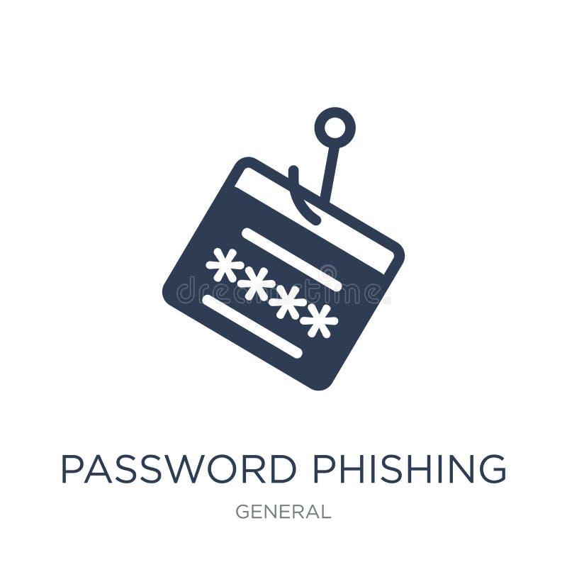 phishing Ikone des Passwortes Modisches flaches Vektorpasswort phishing ico vektor abbildung
