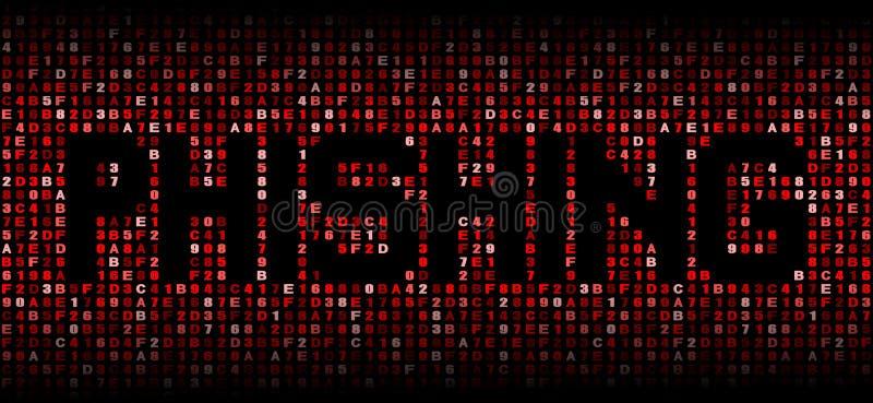 Phishing text förhäxer på kodillustrationen vektor illustrationer