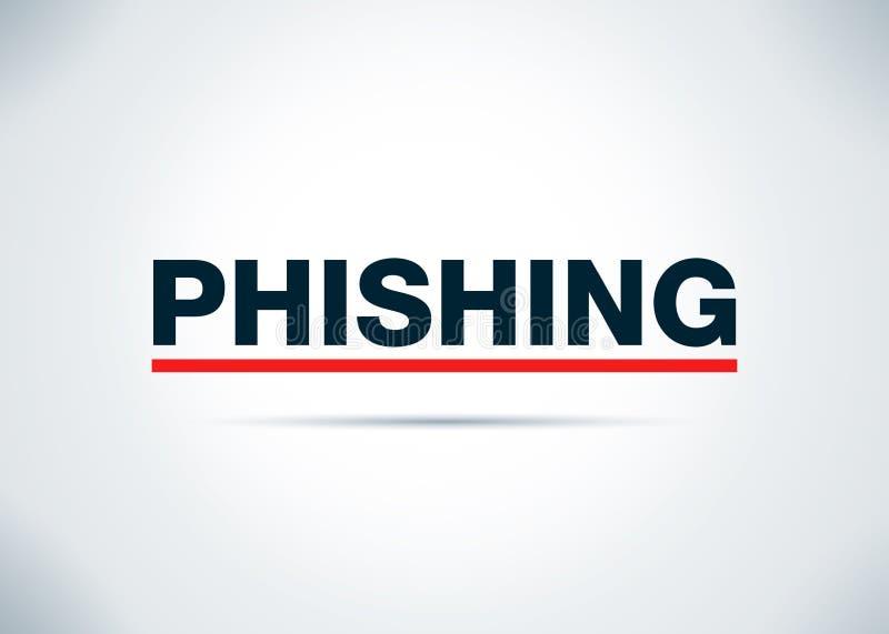 Phishings Abstracte Vlakke Achtergrondontwerpillustratie stock illustratie