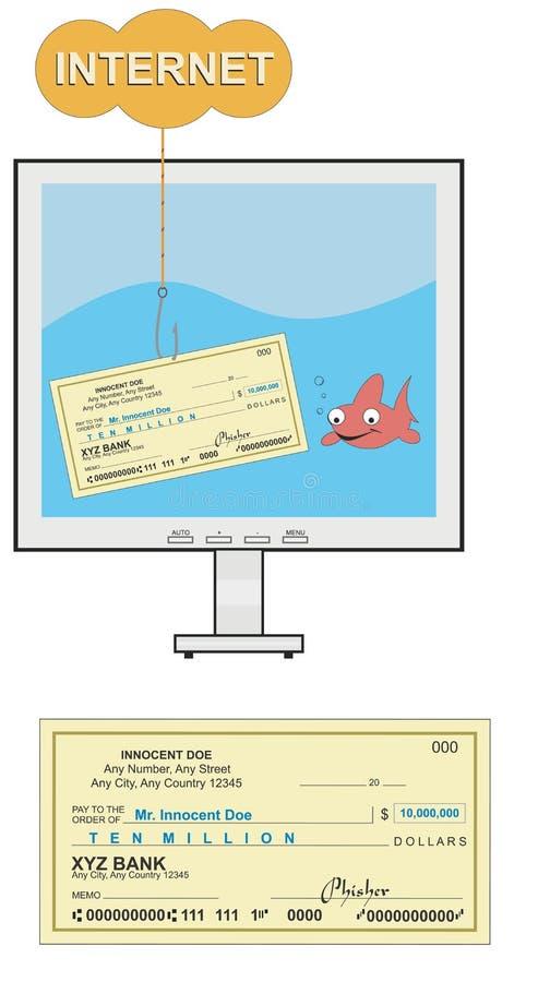 Phising Illustration Royalty Free Stock Photography