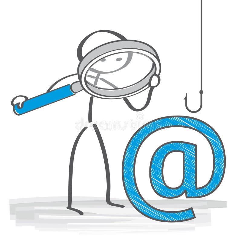 Phising illustration för Email vektor illustrationer