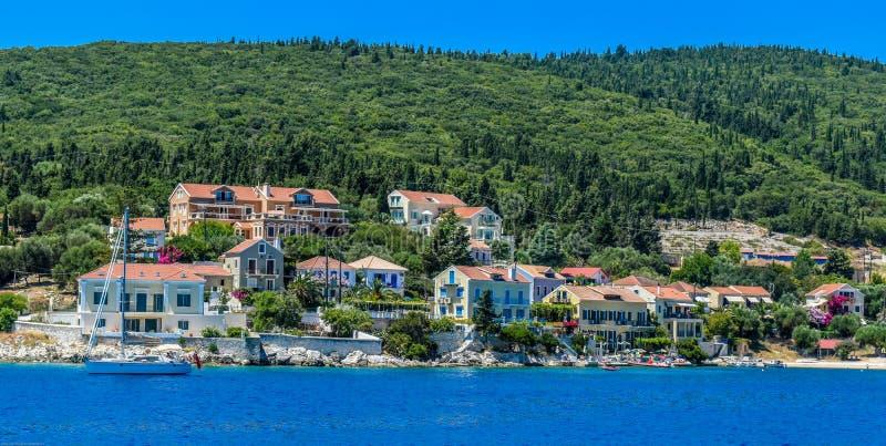 Phiskardo in Kefalonia Grecia immagini stock