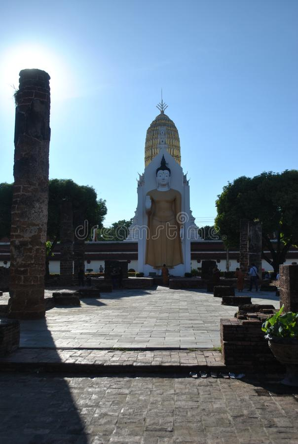 Phitsanulok Tailândia do mahathat de Wat Pha Sri Rattana imagem de stock
