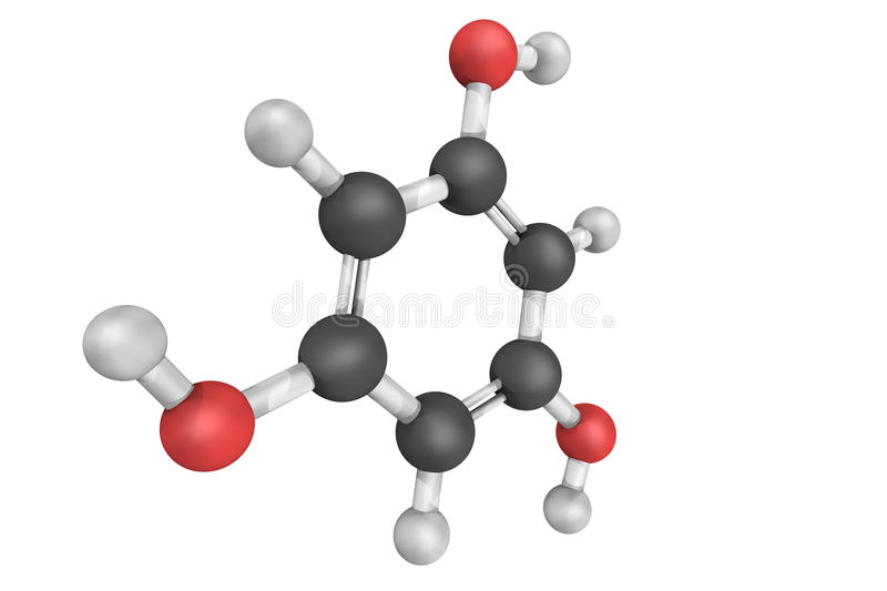 Phloroglucinol, used in the synthesis of pharmaceuticals and exp royalty free stock photo