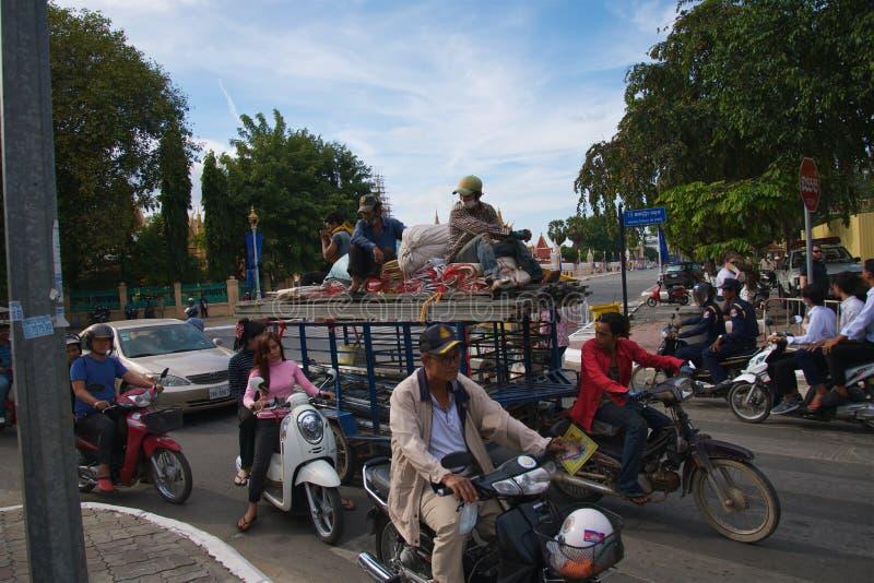 Phnom笔柬埔寨 库存照片
