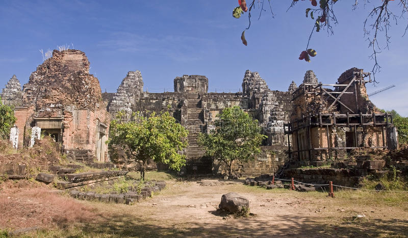 Phnom Bakheng - One of the temples around Angkor Wat stock photos