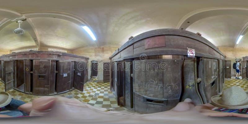 360VR inside Tuol Sleng S21 Prison in Phnom Penh Vietnam royalty free stock photography