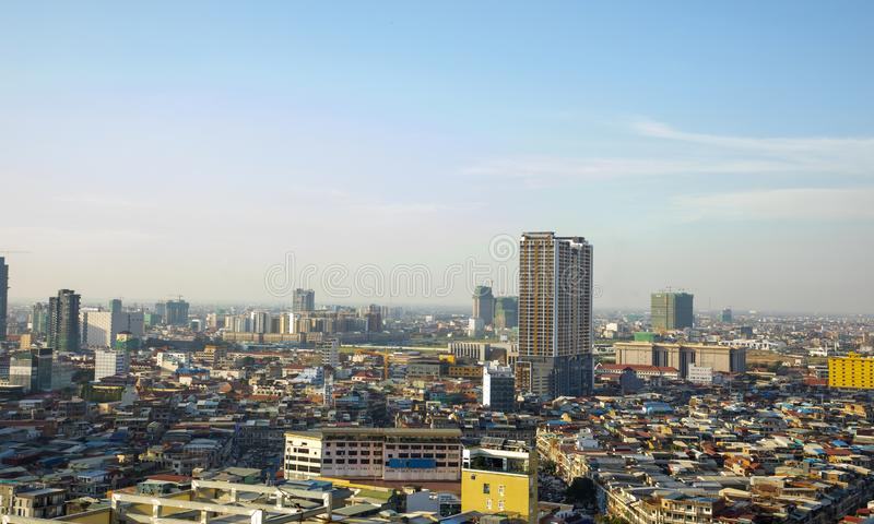 Phnom Penh Overview Daytime royalty free stock image