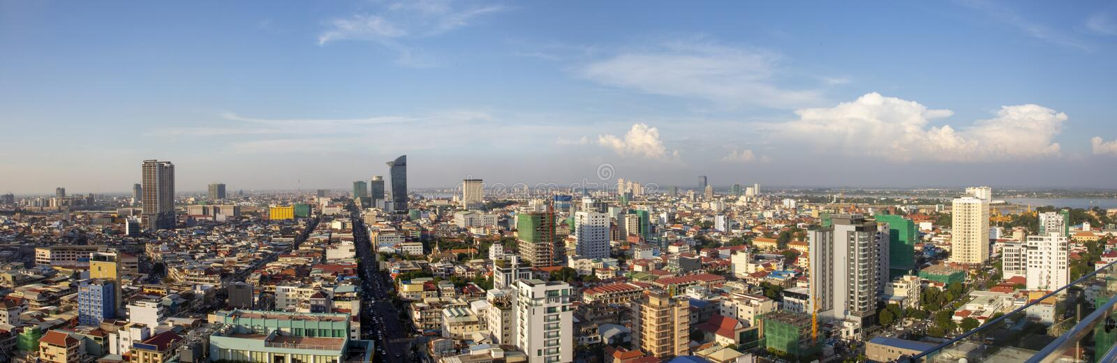 Phnom Penh Overview Daytime royalty free stock photos